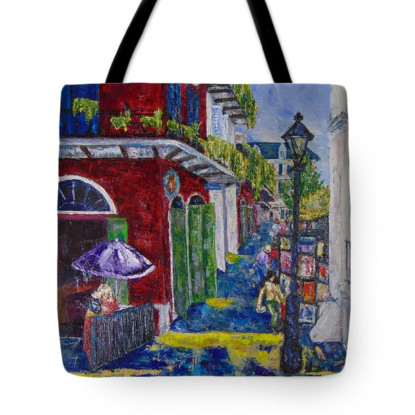 The Purple Umbrella        Pirates Alley Tote Bag