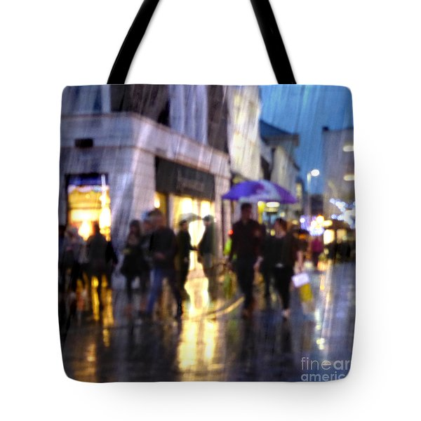 Tote Bag featuring the photograph The Purple Umbrella by LemonArt Photography