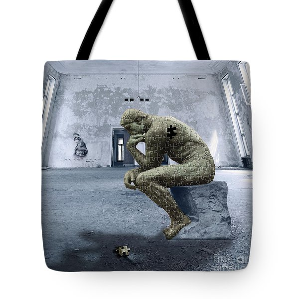 Tote Bag featuring the photograph Puzzled by Juli Scalzi