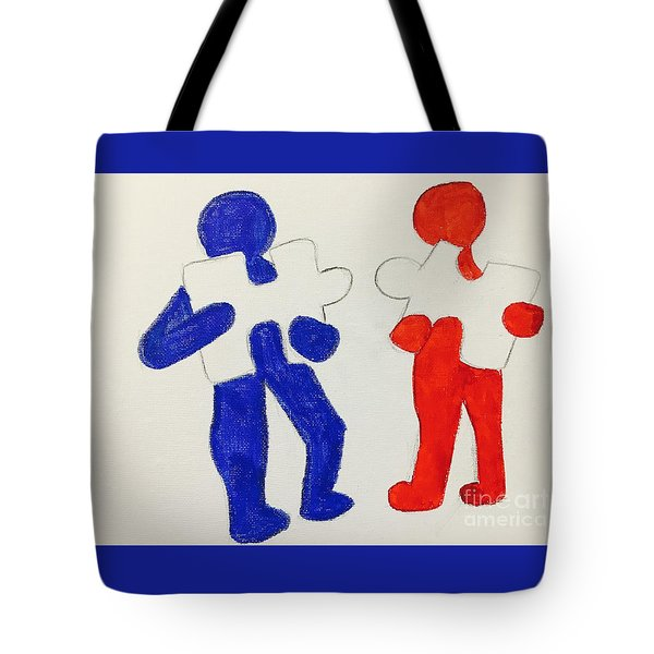 The Puzzles People  Tote Bag