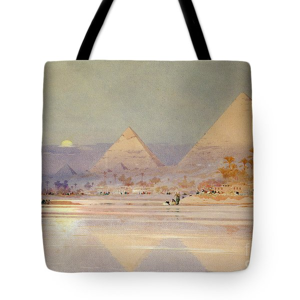 The Pyramids At Dusk Tote Bag