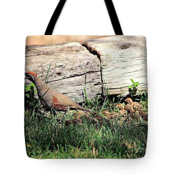 The Quail Family Tote Bag