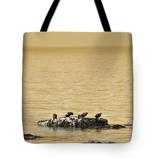 The Quatuor - Gold Tote Bag by Aimelle