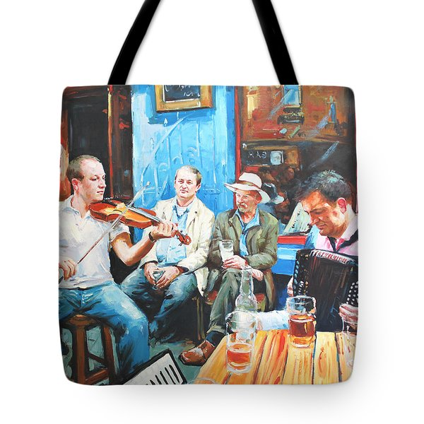 The Quay Players Tote Bag by Conor McGuire