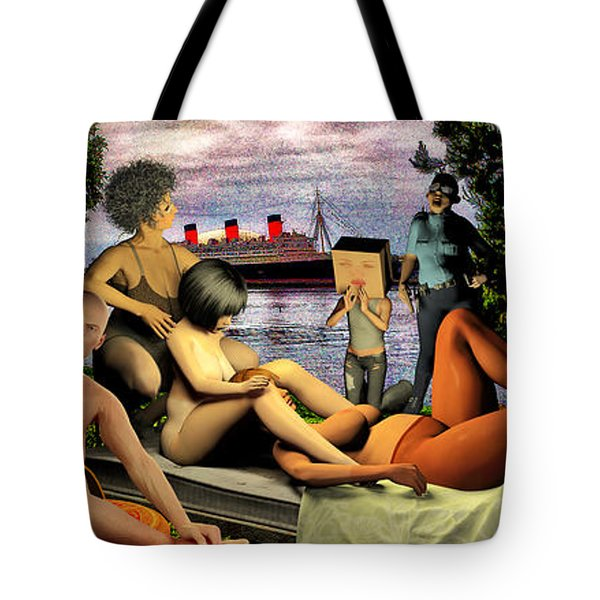 The Queen Mary Is Haunted Tote Bag by Bob Winberry