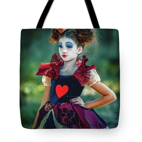 The Queen Of Hearts Alice In Wonderland Tote Bag