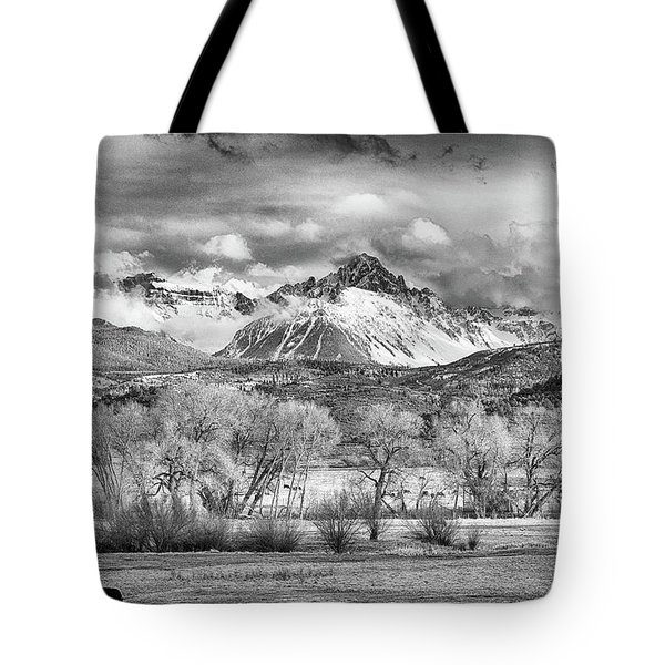 The Queen Of The San Juans In Monochrome Tote Bag