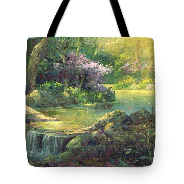 The Quiet Creek Tote Bag by Michael Humphries