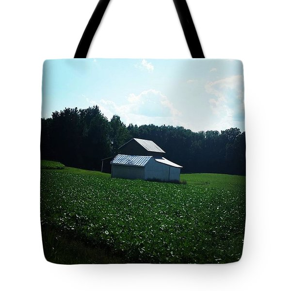 The Quietness Of A Field Tote Bag