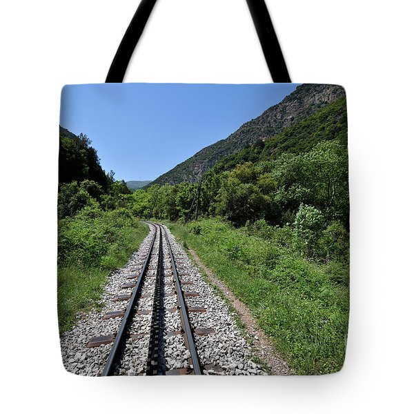 The Rack Railway In Vouraikos Gorge Tote Bag