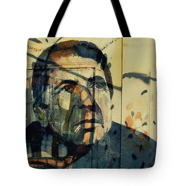 Tote Bag featuring the painting The Rain Falls Down On Last Years Man  by Paul Lovering
