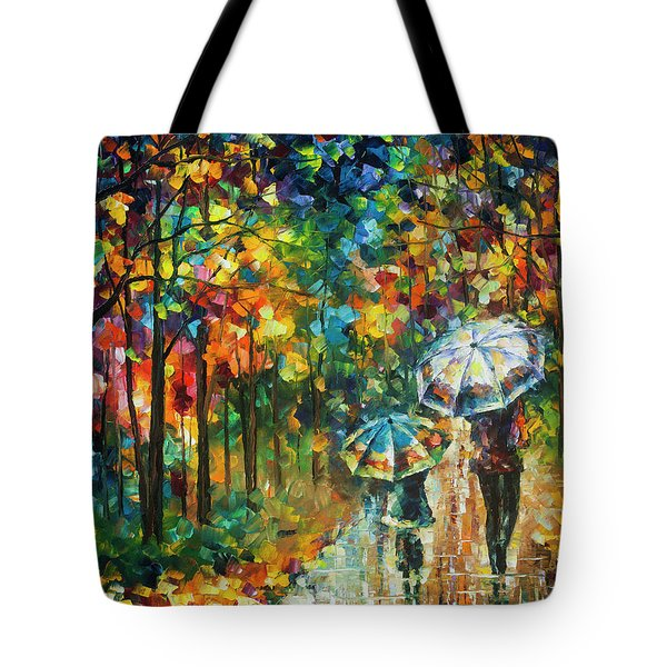The Rain Of Childhood Tote Bag by Leonid Afremov