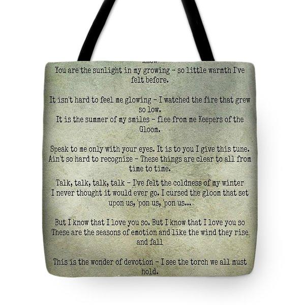 The Rain Song-led Zeppelin Tote Bag