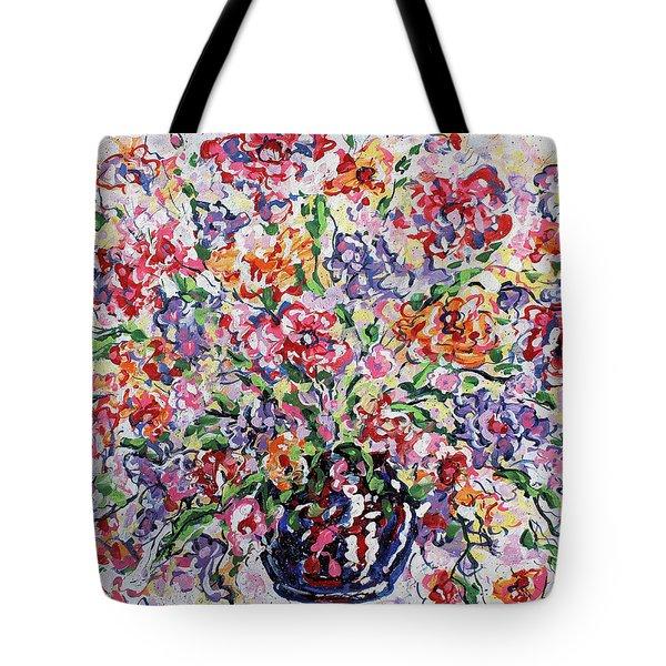 The Rainbow Flowers Tote Bag