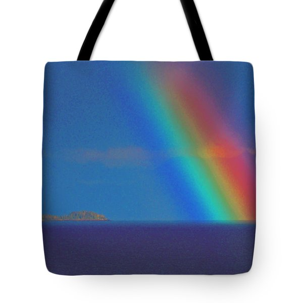 Tote Bag featuring the photograph The Rainbow by John Hartman
