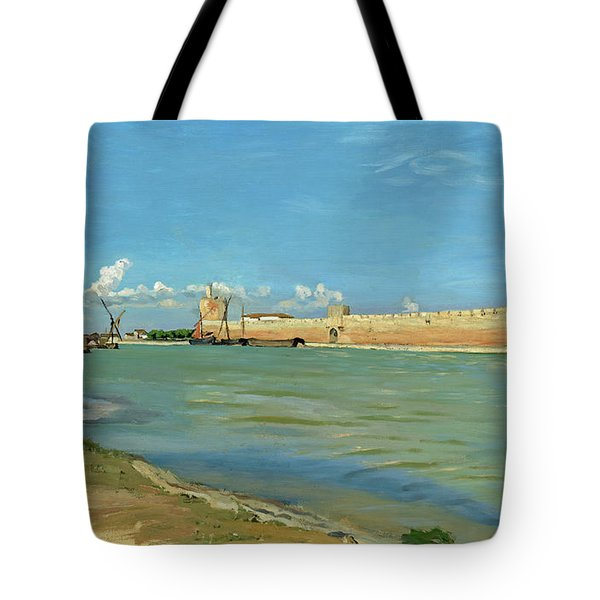 The Ramparts At Aigues Mortes Tote Bag