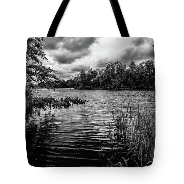 Tote Bag featuring the photograph The Rancocas River Landscape by Louis Dallara