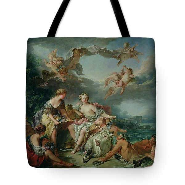 The Rape Of Europa Tote Bag by Francois Boucher