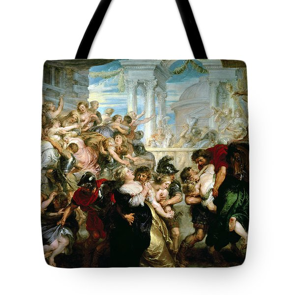The Rape Of The Sabine Women Tote Bag