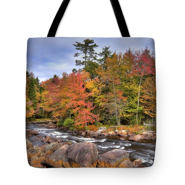 Tote Bag featuring the photograph The Rapids On The Moose River by David Patterson