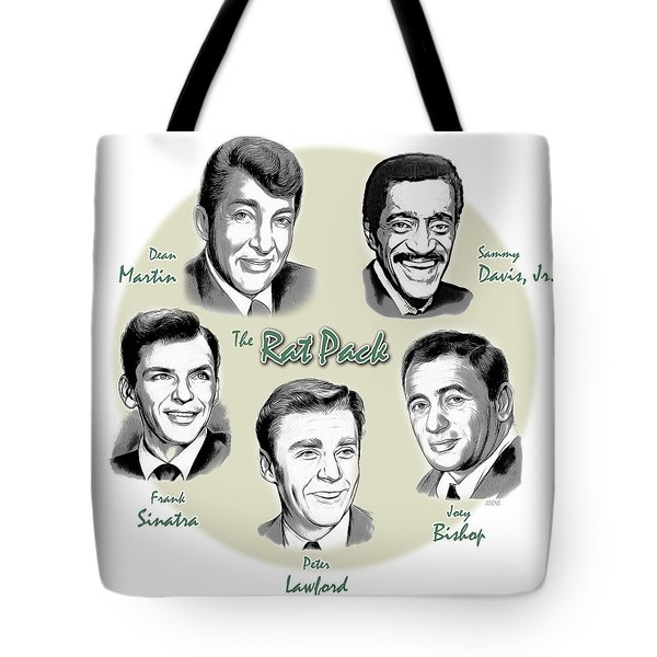 The Rat Pack Tote Bag by Greg Joens