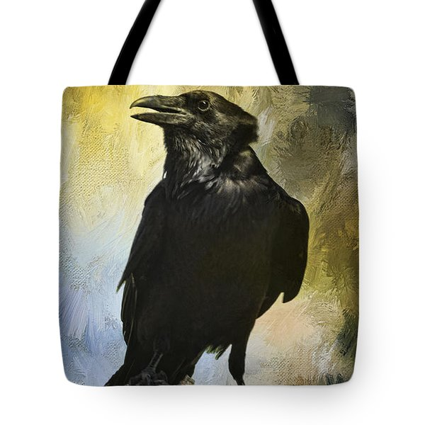 Tote Bag featuring the photograph The Raven by Barbara Manis