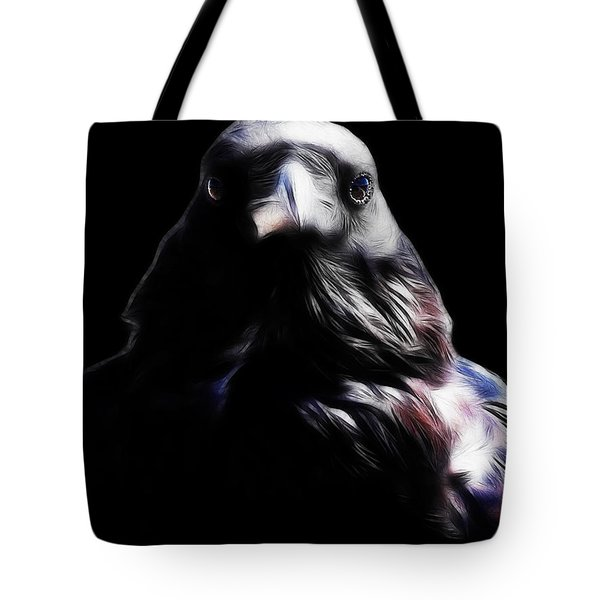 The Raven In My Dreams Tote Bag by Wingsdomain Art and Photography