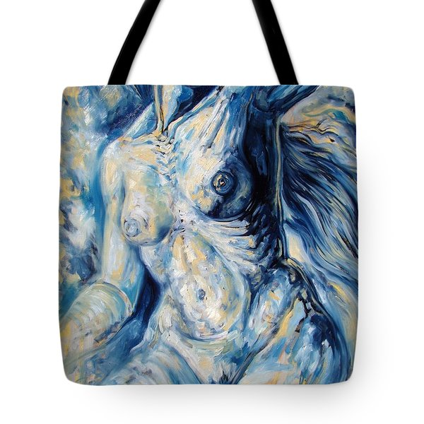 The Re-invention Of The Human Figure II Tote Bag by Darwin Leon