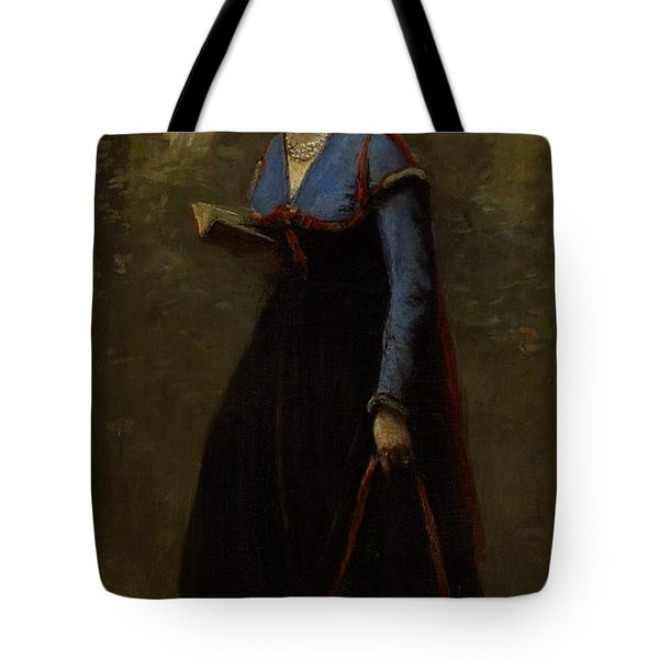 The Reader Tote Bag by Jean Baptiste Camille Corot