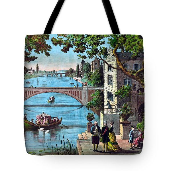 The Reception Of Benjamin Franklin In France Tote Bag by War Is Hell Store
