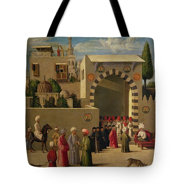 The Reception Of Domenico Trevisani In Cairo Tote Bag by Italian School
