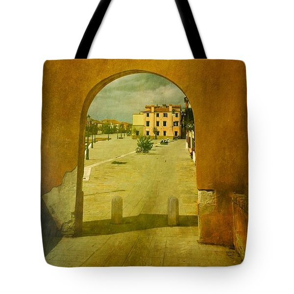 Tote Bag featuring the photograph The Red Archway by Anne Kotan