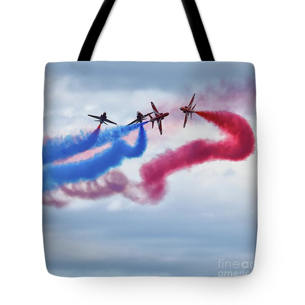 The Red Arrows Tote Bag by Nichola Denny