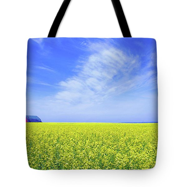Tote Bag featuring the photograph The Red Barn by Keith Armstrong