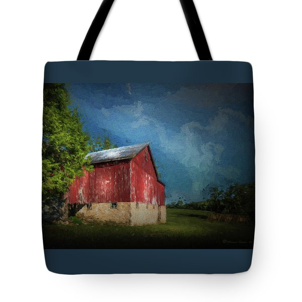 Tote Bag featuring the photograph The Red Barn by Marvin Spates