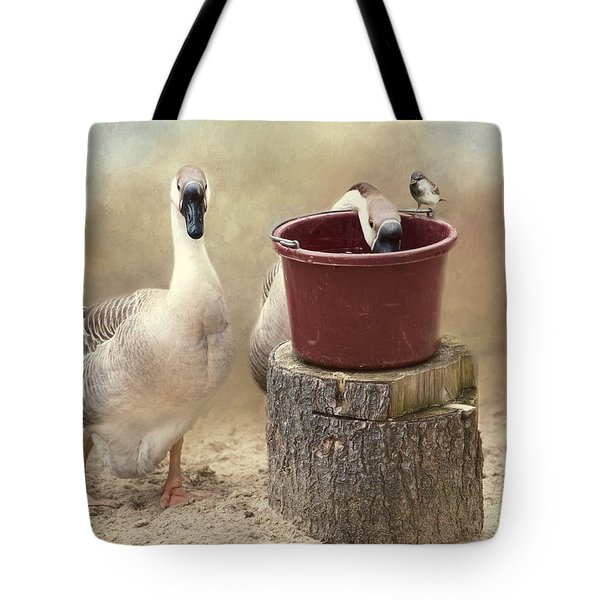 Tote Bag featuring the photograph The Red Bucket by Robin-Lee Vieira
