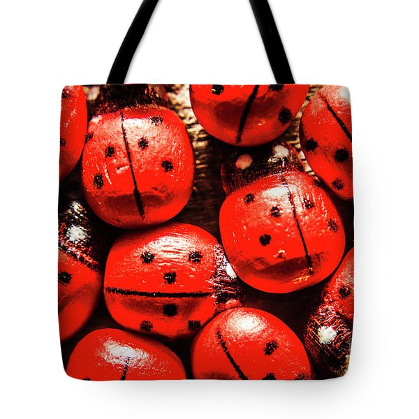 The Red Bug Out  Tote Bag