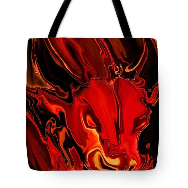 The Red Bull Tote Bag by Rabi Khan