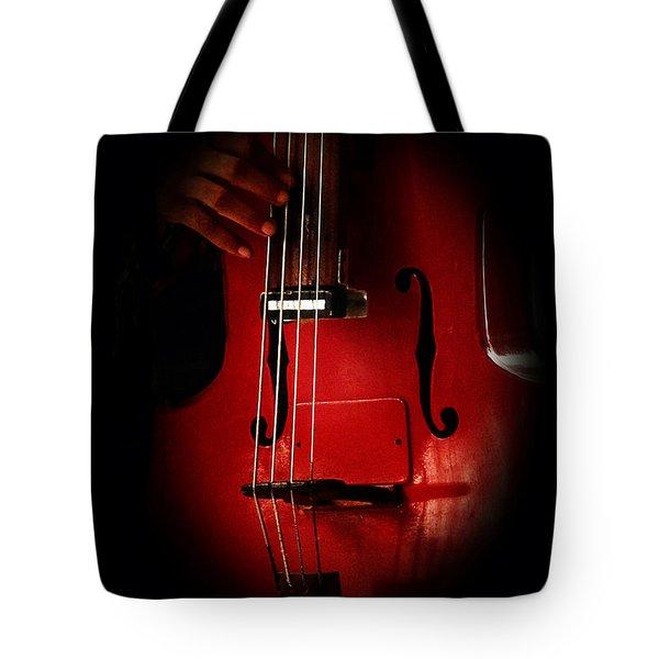 The Red Cello Tote Bag