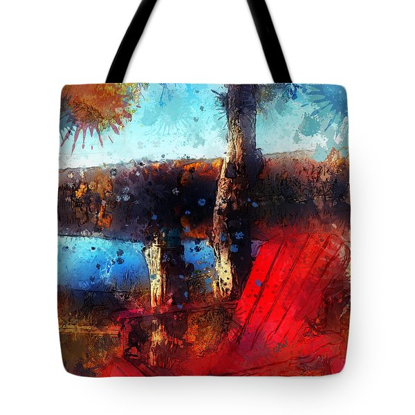 Tote Bag featuring the photograph The Red Chair by Claire Bull