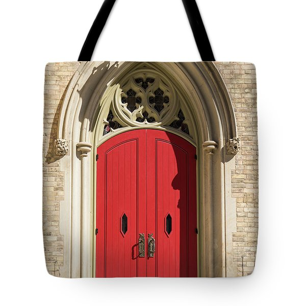 The Red Church Door. Tote Bag