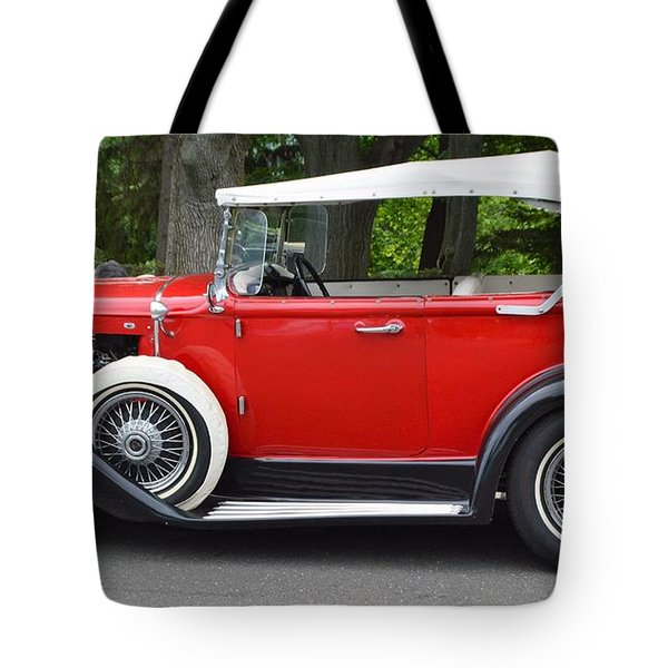 The Red Convertible Tote Bag