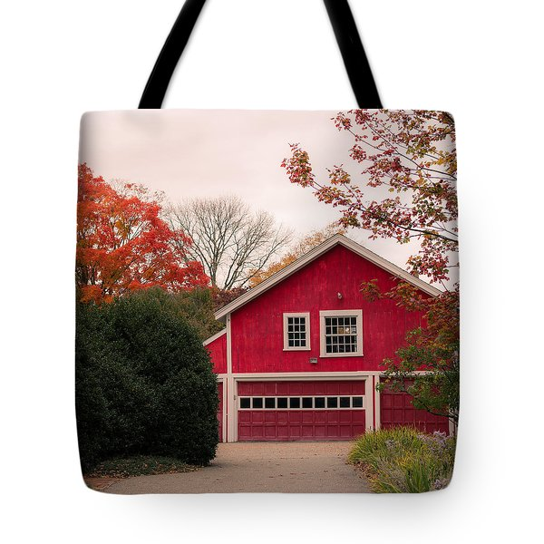 The Red Garage Tote Bag