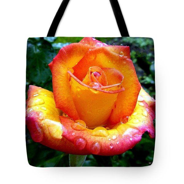The Red Gold Rose Tote Bag by Will Borden