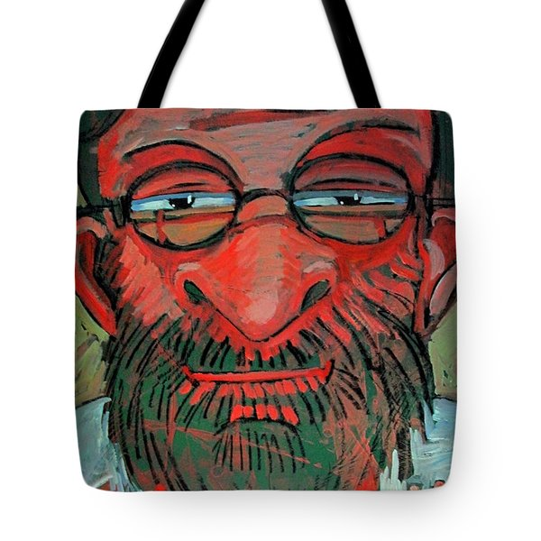 Tote Bag featuring the painting The Red Green Man The Artist by Charlie Spear