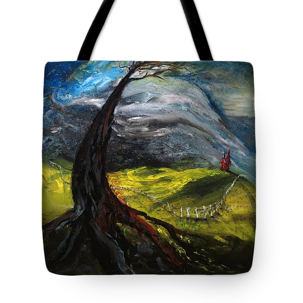 The Red House Tote Bag by Antonio Ortiz