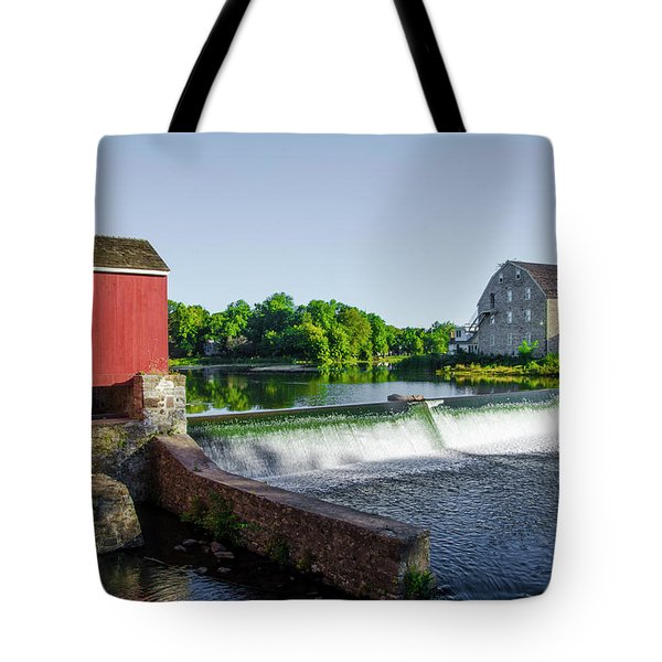 The Red Mill  On The Raritan River - Clinton New Jersey  Tote Bag by Bill Cannon