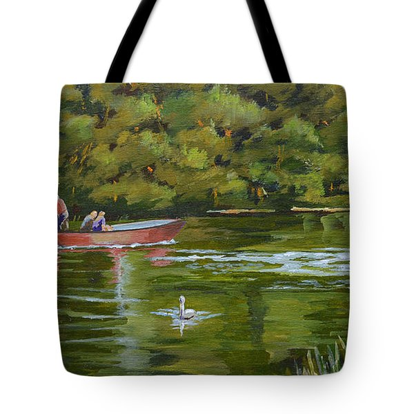 The Red Punt Tote Bag
