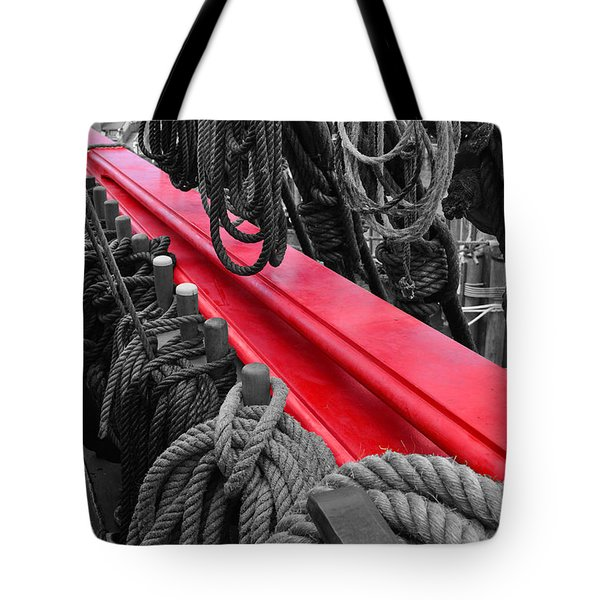 The Red Rail Tote Bag
