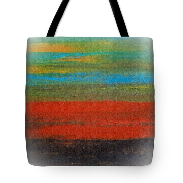 The Red Stripe -or- Meditation Number 28 Tote Bag by Scott Haley